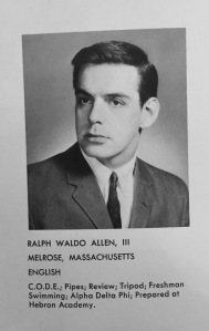 Ralph Allen's 1965 Trinity College yearbook entry.