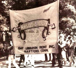 Kalos Society contingent at the NYC Stonewall celebration, 1970