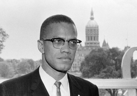 Malcolm X in Hartford; State Capitol in background